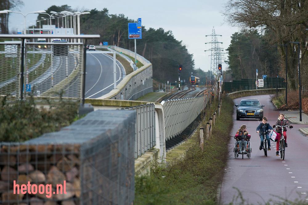 Nederland, Nijverdal 13 jan 2016  Spoor weg combitunnelbak in Nijverdal.