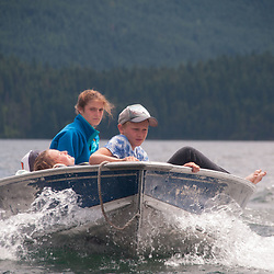 Eliza, Perry and Curran, Ross Lake National Recreation Area, North Cascades National Park, US