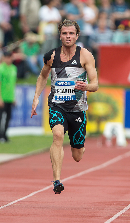 28.05.2016, Moeslestadion, Goetzis, AUT, 42. Hypo Meeting Goetzis 2016, Zehnkampf der Herren, 400 Meter, im Bild Rico Freimuth (GER) // Rico Freimuth of Germany in action during the 400 metres event of the Decathlon competition at the 42th Hypo Meeting at the Moeslestadion in Goetzis, Austria on 2016/05/28. EXPA Pictures © 2016, PhotoCredit: EXPA/ Peter Rinderer