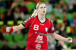 Tamara Mavsar of Krim during handball match between RK Krim Mercator and Larvik HK (NOR) of Women's EHF Champions League 2011/2012, on November 13, 2011 in Arena Stozice, Ljubljana, Slovenia. (Photo By Vid Ponikvar / Sportida.com)