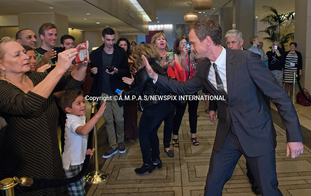 02.02.2015; Beverly Hills, California: 87TH OSCAR NOMINEES LUNCHEON - OSCAR HOST NEIL PATRICK HARRIS<br /> Oscar Nominees attended the annual Nominees Luncheon that honours this year's contenders for the Oscars at the Beverly Hilton, Beverly Hills, Los Angeles<br /> Awards for outstanding film achievements of 2014 will be presented on Oscar Sunday, February 22, 2015, at the Dolby Theatre&reg; at Hollywood &amp; Highland Center&reg;, Los Angeles.<br /> Mandatory Photo Credit: &copy;Harbaugh/Newspix International<br /> <br />               **ALL FEES PAYABLE TO: &quot;NEWSPIX INTERNATIONAL&quot;**<br /> <br /> PHOTO CREDIT MANDATORY!!: NEWSPIX INTERNATIONAL(Failure to credit will incur a surcharge of 100% of reproduction fees)<br /> <br /> IMMEDIATE CONFIRMATION OF USAGE REQUIRED:<br /> Newspix International, 31 Chinnery Hill, Bishop's Stortford, ENGLAND CM23 3PS<br /> Tel:+441279 324672  ; Fax: +441279656877<br /> Mobile:  0777568 1153<br /> e-mail: info@newspixinternational.co.uk