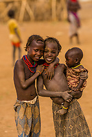 Dassanach tribe girls, Omo Valley, Ethiopia.