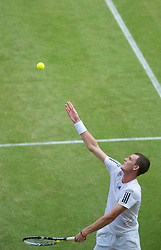 LONDON, ENGLAND - Friday, June 25, 2010: Jamie Murray (GBR) during the Mixed Doubles 1st Round match on day five of the Wimbledon Lawn Tennis Championships at the All England Lawn Tennis and Croquet Club. (Pic by David Rawcliffe/Propaganda)