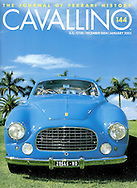 Magazine Cover - Ferarri 212 blue