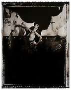 """""""Surfer Rosa (Redux) 1988/2014"""": Sleeve artwork for the Pixies: """"Surfer Rosa"""" LP (4AD Records/1988). The negative was made in 1988 on Polaroid Type 55 film and hand-printed by me, the photographer in June 2014, on 16"""" x 20"""" (40.64cm x 50.80cm) Forte Museum Grade 4 fibre paper (long since discontinued) as an edition of 15 prints only. The prints are silver gelatin """"lith prints"""" that have been split-selenium toned and processed using archival methods. Each print is individually stamped, titled, numbered, dated, signed, and comes with a certificate of authenticity. Please email me at info@simon-larbalestier.co.uk for availability and shipping info. All prints are shipped from the United Kingdom. *Stated price does not include shipping."""