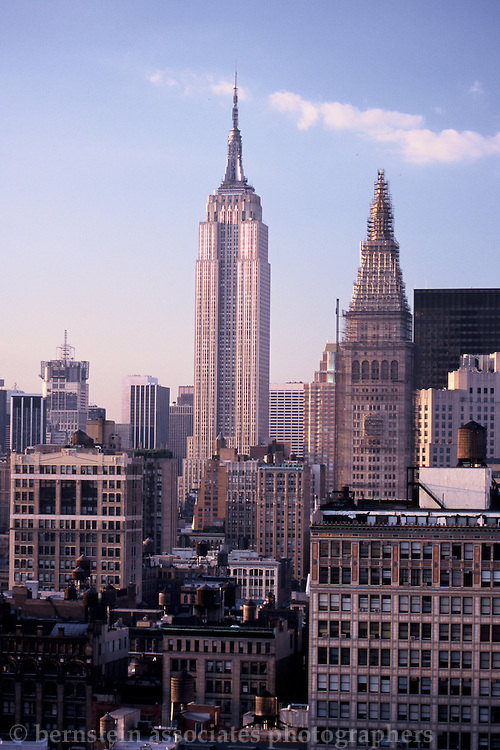 A view of the Empire State Building as seen circa July or August of 2000.