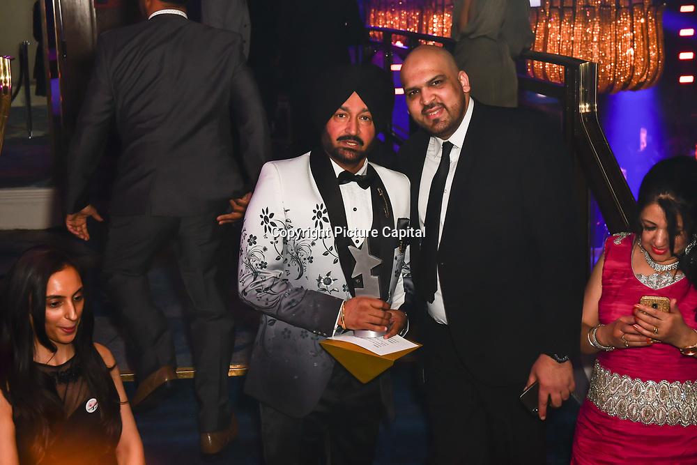 Malkit Singh receive an award at the BritAsiaTV Presents Kuflink Punjabi Film Awards 2019 at Grosvenor House, Park Lane, London,United Kingdom. 30 March 2019