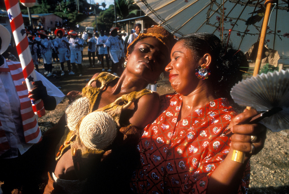 COLOMBIA: El Choco.Revellers during the Quibdo festival