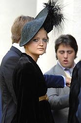 LADY ELOISE ANSON at the memorial service of Isabella Blow held at the Guards Chapel, London W1 on 18th September 2007.<br /><br />NON EXCLUSIVE - WORLD RIGHTS