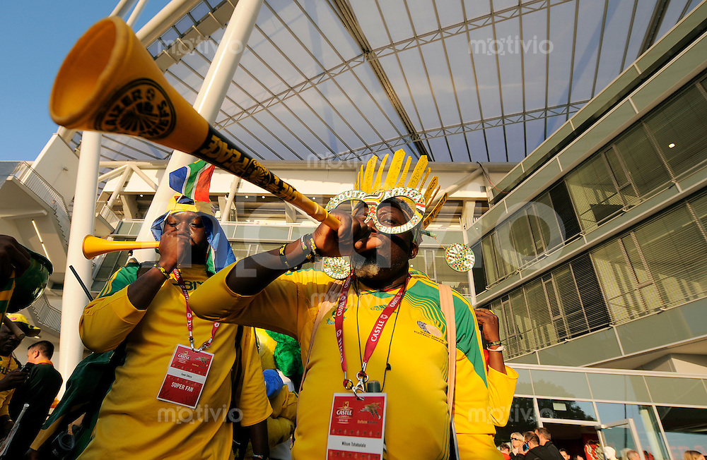 Fussball   International    Freundschaftsspiel   Deutschland - Suedafrika      05.09.09 Fans der Bafana aus Suedafrika vor dem Spiel.