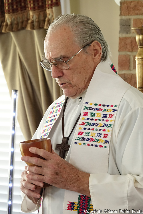 Father David Knight is the oldest priest in the Memphis diocese at age 86.