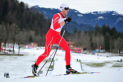CLARION Thomas Guide: BOURLA Julien, FRA at the 2014 IPC Nordic Skiing World Cup Finals - Middle Distance