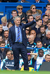 LONDON, ENGLAND - Sunday, May 3, 2015: Chelsea's manager Jose Mourinho during the Premier League match against Crystal Palace at Stamford Bridge. (Pic by David Rawcliffe/Propaganda)