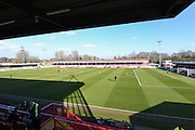 The Checkatrade.com Stadium before the EFL Sky Bet League 2 match between Crawley Town and Morecambe at the Checkatrade.com Stadium, Crawley, England on 18 February 2017. Photo by David Charbit.