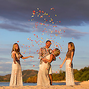 Wedding Photographer Beau Maisel has shot weddings all over Costa Rica during the last 10 years.  His style is bold and dramatic as he always incorporates the lush tropical background and venue into his photos.  Beau's Signature Sunset Photos will leave all that view them in awe.  Fill out the short contact form and tell Beau about your wedding day.