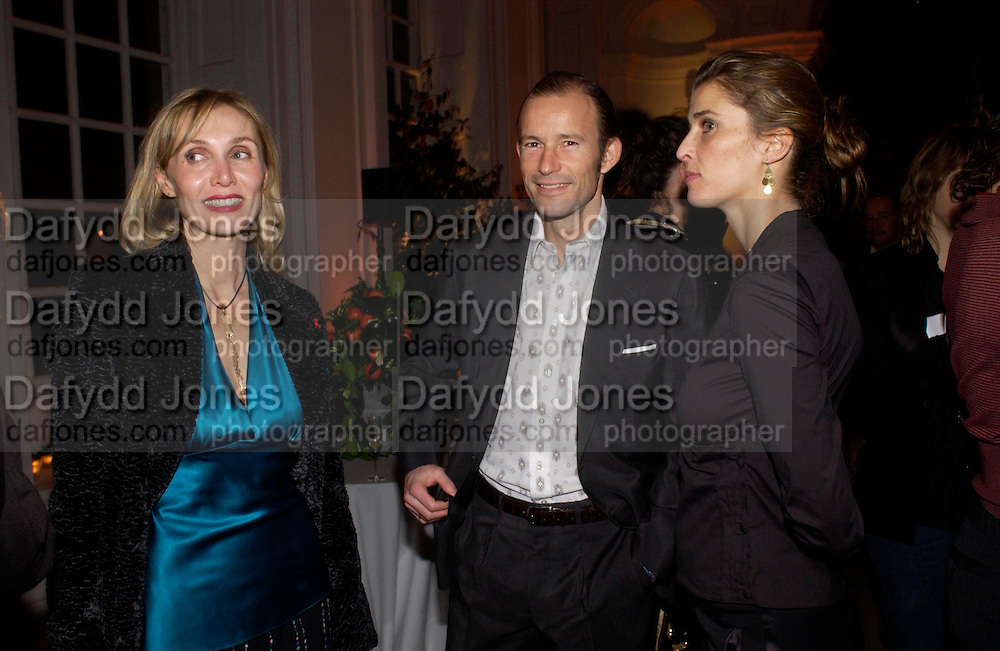 Allegra Hicks and PRINCE & PRINCESS OF PRESLAV.Mario Testino, Bianca Jagger and Kenneth Cole celebrate Women to Women: Positively Speaking. - A publication to raise awareness of women living with Aids. The Orangery, Kensington Palace. 2 December 2004. ONE TIME USE ONLY - DO NOT ARCHIVE  © Copyright Photograph by Dafydd Jones 66 Stockwell Park Rd. London SW9 0DA Tel 020 7733 0108 www.dafjones.com