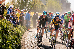 Peloton with KNEES Christian of Team Sky during the 115th Paris-Roubaix (1.UWT) from Compiègne to Roubaix (257 km) at cobblestones sector 29 from Troisvilles to Inchy, France, 9 April 2017. Photo by Pim Nijland / PelotonPhotos.com | All photos usage must carry mandatory copyright credit (Peloton Photos | Pim Nijland)