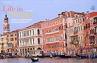 Ten page photo story on Venice, Italy in the January 2016 issue of Thai Airways' inflight magazine Sawasdee by photographer Blaine Harrington III.