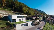 Modern villa, aerial view