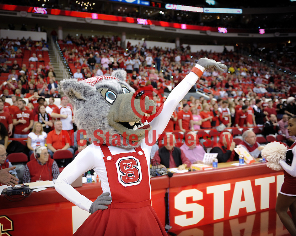 Ms. Wuf fires up the crowd at the PNC Arena. Photo by Marc Hall