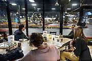 Nederland, Enschede, 13-12-2013Vermaakscentrum Go Planet maakt een zieltogende indruk. Een groep heeft een uitje in de karthal. (Mensen gaven toestemming.)Entertainmentboulevard Go Planet te Enschede. De funstreet van Twente. Foto: Flip Franssen/Hollandse Hoogte