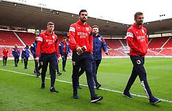 Marlon Pack of Bristol City and teammates walk around the pitch - Mandatory by-line: Matt McNulty/JMP - 14/04/2018 - FOOTBALL - Riverside Stadium - Middlesbrough, England - Middlesbrough v Bristol City - Sky Bet Championship