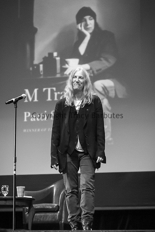 Wednesday, November 18, 2015<br /> Patti Smith in conversation with Dave Eggers at Dominican University, San Rafael, California.<br /> <br /> Following their conversation, Patti (accompanied by guitarist Tony Shanahan) sang: Wing, Dancing Barefoot, People Have the Power