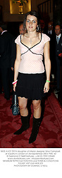 MISS ALICE DEEN daughter of interior designer Nina Campbell, at a party in London on 3rd September 2003.PMC 42