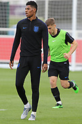 England forward Marcus Rashford during the training session for England at St George's Park National Football Centre, Burton-Upon-Trent, United Kingdom on 28 May 2019.