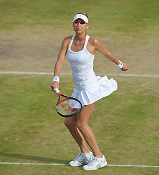 LONDON, ENGLAND - Tuesday, June 29, 2010: Anna Kournikova (RUS) during the Ladies' Invitation Doubles match on day eight of the Wimbledon Lawn Tennis Championships at the All England Lawn Tennis and Croquet Club. (Pic by David Rawcliffe/Propaganda)