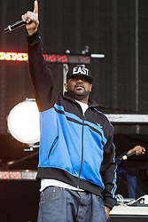 © Licensed to London News Pictures . 06/06/2015. Manchester , UK . Wu Tang Clan on the main stage at The Parklife 2015 music festival in Heaton Park , Manchester . Photo credit : Joel Goodman/LNP
