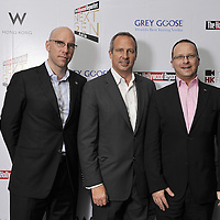 HONG KONG - MARCH 24:  Hollywood Reporter's Senior VP, Publishing Director Eric Mika(C), W Hotels's Director of Marketing (L) and Director of Operations Benoit Racle attend The Hollywood Reporter Next Gen Asia Launch Cocktail Reception event at the W Hotel Kowloon on March 24, 2009 in Hong Kong. The initiative has recognised over 500 individuals under 35 over the last 15 years, and is run in conjunction with the Hong Kong International Film Festival.  Photo by Victor Fraile / studioEAST