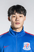 **EXCLUSIVE**Portrait of Chinese soccer player Liu Ruofan of Shanghai Greenland Shenhua F.C. for the 2018 Chinese Football Association Super League, in Shanghai, China, 2 February 2018.