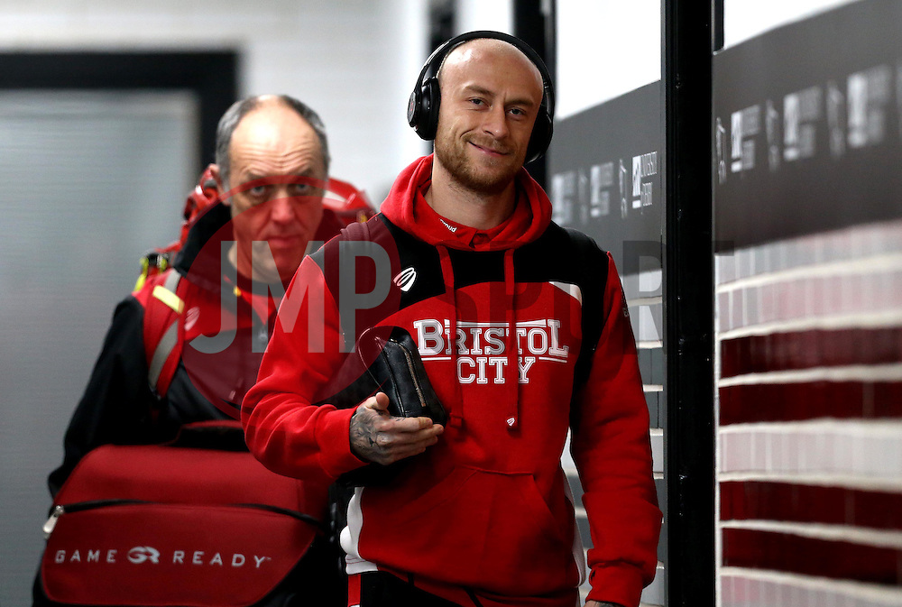 David Cotterill of Bristol City arrives at The iPro stadium ahead of the Sky Bet Championship fixture with Derby County - Mandatory by-line: Robbie Stephenson/JMP - 11/02/2017 - FOOTBALL - iPro Stadium - Derby, England - Derby County v Bristol City - Sky Bet Championship