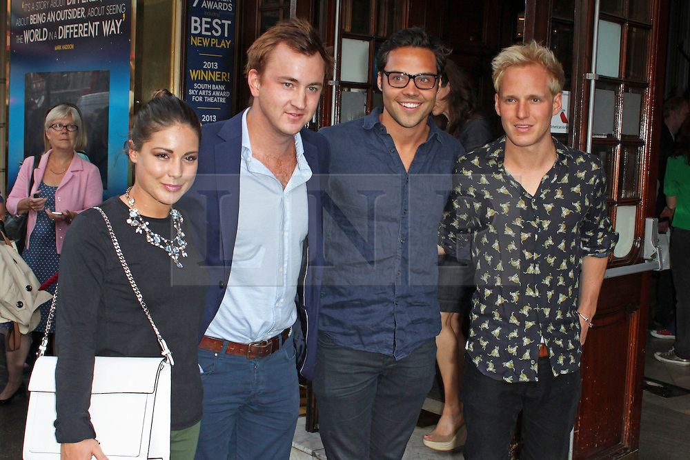 © Licensed to London News Pictures. 01/07/2013. London, UK. Louise Thompson, Francis Boulle, Andy Jordan & Jamie Laing at the A Curious Night at the Theatre - Gala Evening. Photo credit: Brett D. Cove/LNP