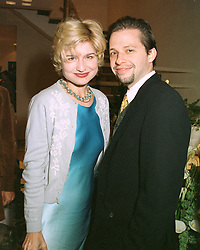 BARONESS ISSY VAN RANDWYCK and actor JON CRYER at a party in London on 7th May 1997.LYE 26