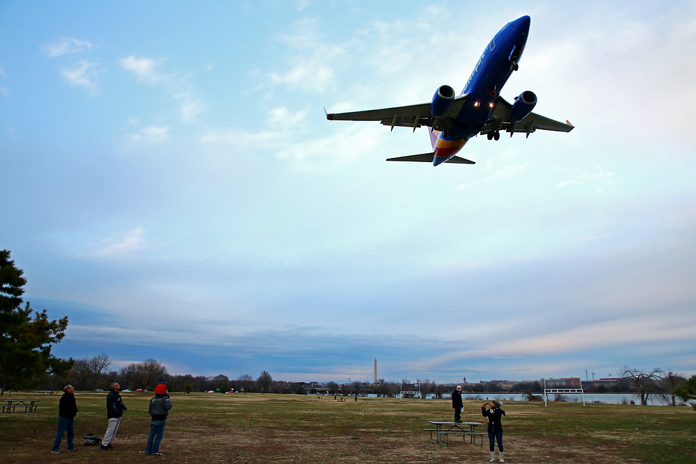 Dec 31, 2016; Washington, DC , USA; Airliners arrive and depart from Ronald Reagan International Airport (DCA). Mandatory Credit: Peter J. Casey