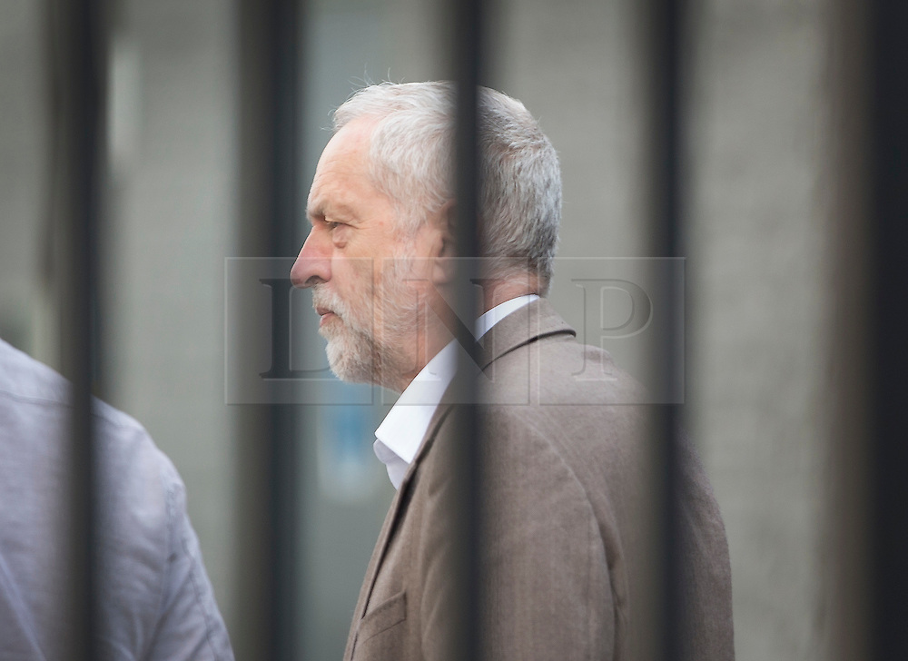 © Licensed to London News Pictures. 15/05/2016. London, UK.  Labour party leader Jeremy Corbyn arrives to appear on ITV's Peston's Politics. Photo credit: Peter Macdiarmid/LNP