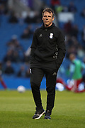 Birmingham City manager Gianfranco Zola during the EFL Sky Bet Championship match between Brighton and Hove Albion and Birmingham City at the American Express Community Stadium, Brighton and Hove, England on 4 April 2017.