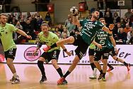 HÅNDBOLD: Bjarte Myrhol (Skjern) i gennembrud under kampen i 888-Ligaen mellem Nordsjælland Håndbold og Skjern Håndbold den 7. marts 2018 i Helsinge Hallen. Foto: Claus Birch.