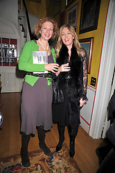 Left to right, SAMANTHA WEINBERG and ANNABEL BUTLER at a party to celebrate the publication of Charles Glass's new book 'Americans in Paris' held at 12 Lansdowne Road, London W1 on 25th March 2009.