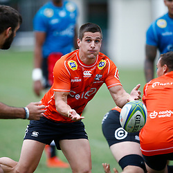 Louis Schreuder of the Cell C Sharks during The Cell C Sharks training session at Jonsson Kings Park Stadium in Durban, South Africa. 21 May 2019 (Mandatory Byline Steve Haag)