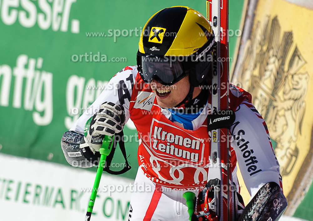 17.03.2012, Planai, Schladming, AUT, FIS Weltcup Ski Alpin, Herren, Riesentorlauf, 2. Lauf, im Bild Marcel Hirscher (AUT) Gewinner im Riesentorlauf- und Gesamtweltcup // Marcel Hirscher of Austria winner of the giant slalom and overall worldcup after second Run of mens giant slalom of FIS Ski Alpine World Cup at 'Planai' course in Schladming, Austria on 2012/03/17. EXPA Pictures © 2012, PhotoCredit: EXPA/ Sandro Zangrando