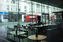 © Licensed to London News Pictures. 17/03/2020. London, UK.Restaurants are empty at lunchtime as the Coronavirus outbreak spreads in London. Photo credit: Ray Tang/LNP