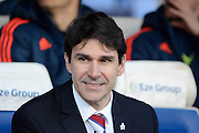Middlesbrough manager Aitor Karanka during the Sky Bet Championship match between Birmingham City and Middlesbrough at St Andrews, Birmingham, England on 29 April 2016. Photo by Alan Franklin.