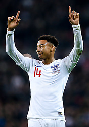 Jesse Lingard of England celebrates scoring a goal to make it 1-0 - Mandatory by-line: Robbie Stephenson/JMP - 15/11/2018 - FOOTBALL - Wembley Stadium - London, England - England v United States of America - International Friendly
