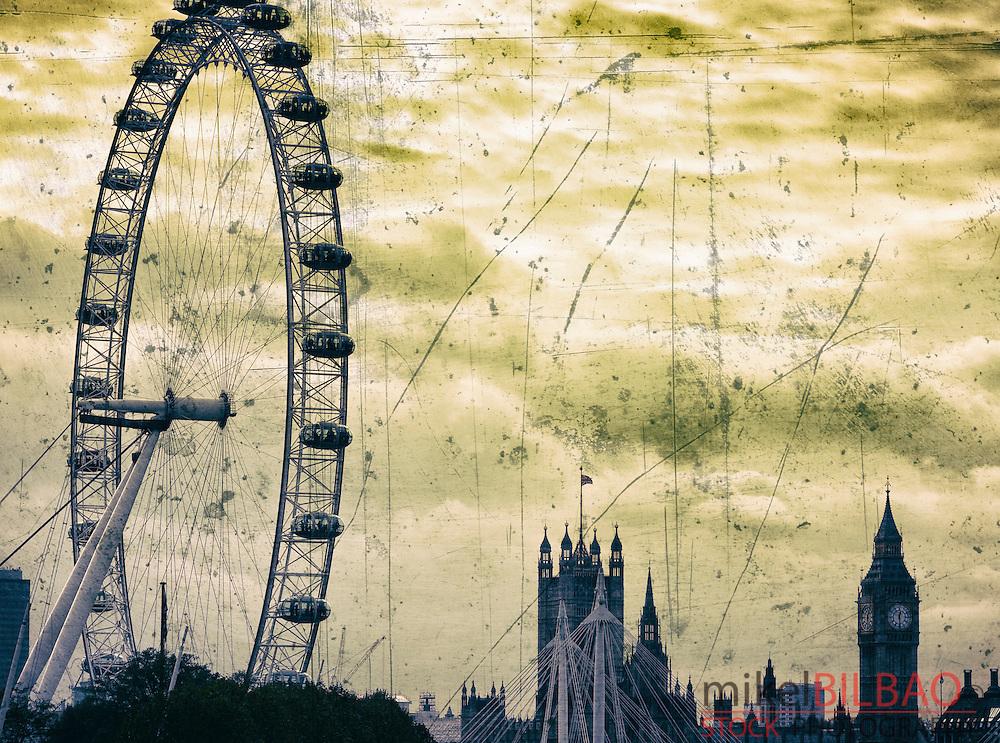 Millennium Wheel or London Eye. London, England, United kingdom, Europe.