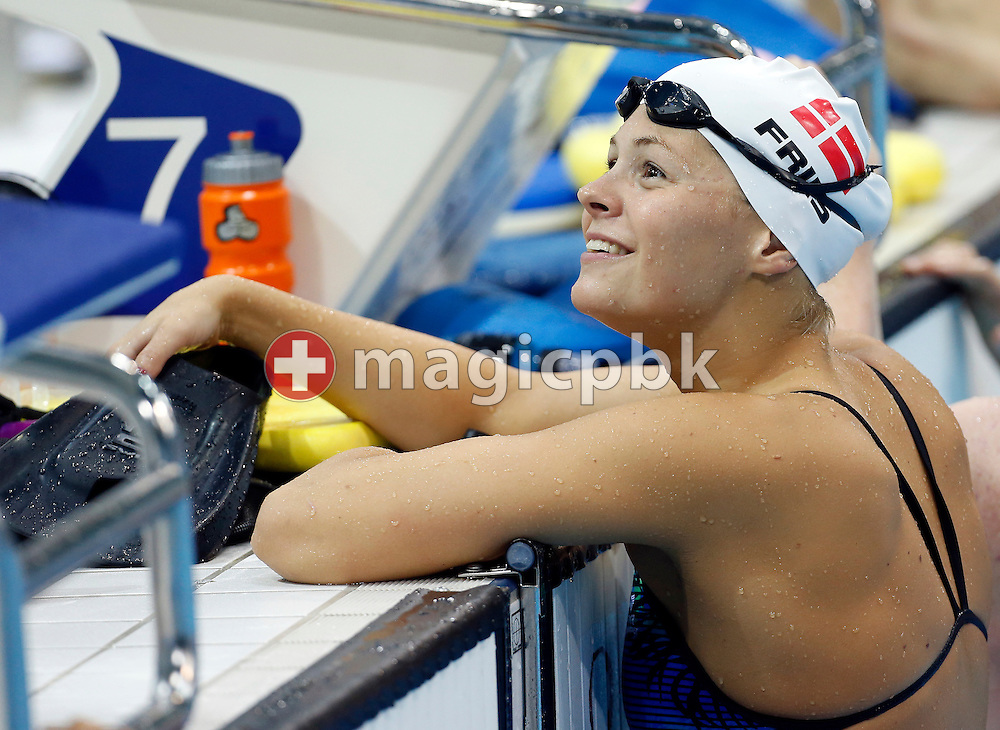Lotte Friis of Denmark is pictured during her warm-up for the heats session during the Swimming competition held at the Aquatics Center during the London 2012 Olympic Games in London, Great Britain, Tuesday, July 31, 2012. (Photo by Patrick B. Kraemer / MAGICPBK)