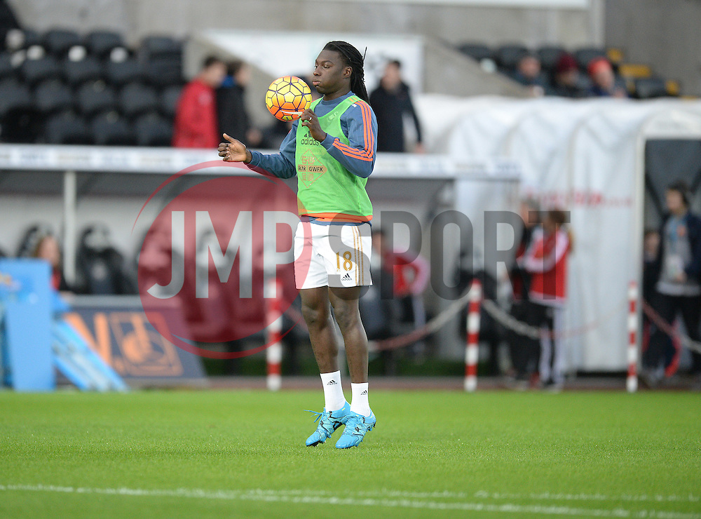 Bafetibis Gomis of Swansea City warms up prior to kick off. - Mandatory byline: Alex James/JMP - 07966 386802 - 20/12/2015 - FOOTBALL - Liberty Stadium - Swansea, England - Swansea City v West Ham United - Barclays Premier League