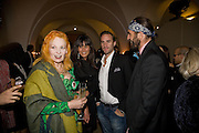 Vivienne Westwood; Maria Dolores Pieguez; Joseph Fiennes; Andrea Kronthaler. Chaos Point: Vivienne Westwood Gold Label Collection performance art catwalk show and auction in aid of the NSPCC. Banqueting House. London. 18 November 2008<br />